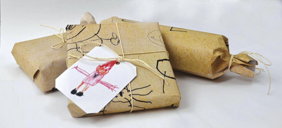 Hjemmelagede merkelapper til gavene