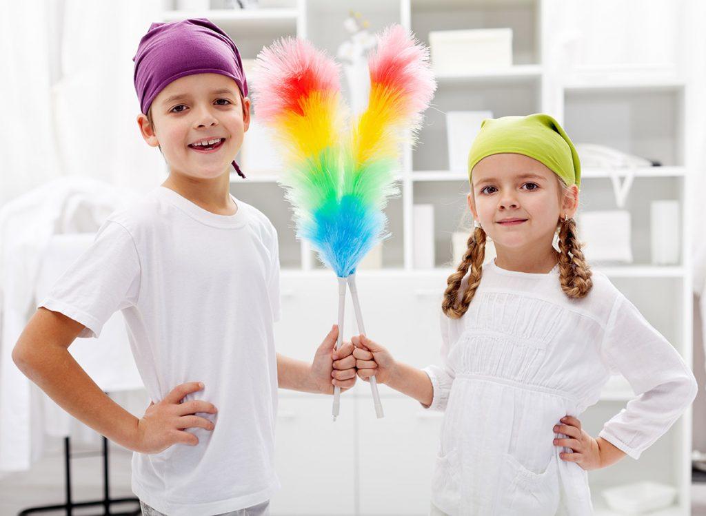 barn med plikter i huset