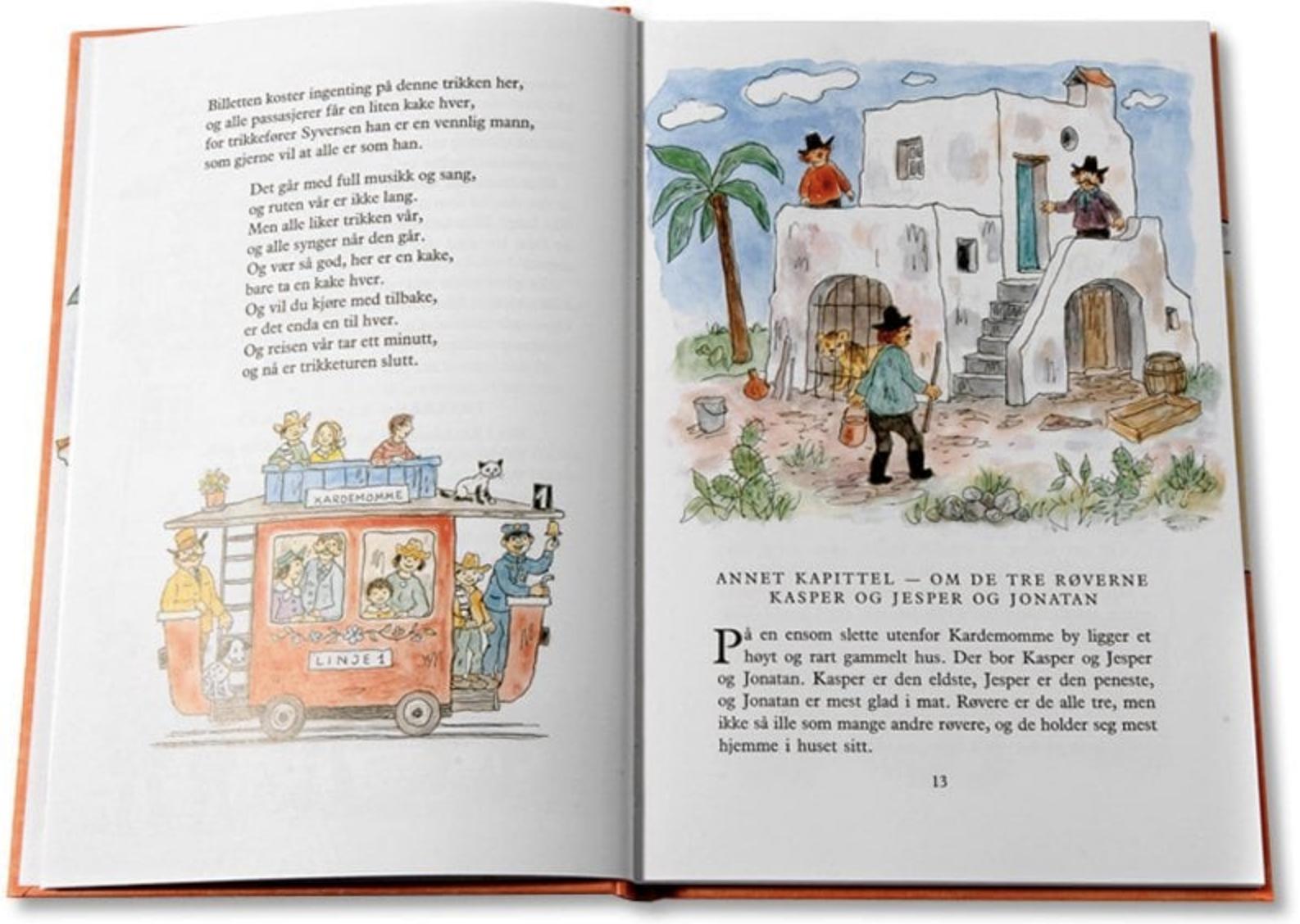 Kardemommeby innsiden av boken